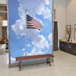 Flag in office